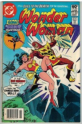 Wonder Woman #285 1981 Huntress Story Dc Bronze Age Fine+!