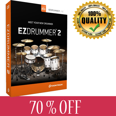 Toontrack EZdrummer 2 Drum Software Windows PC Only License key NEW 2019