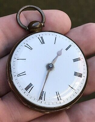 "A GENTS OLD ANTIQUE GILT ""ISLINGTON"" VERGE / FUSEE POCKET WATCH, CIRCA 1800s.."