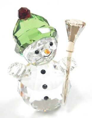 Snowman With Broom Stick Christmas Holiday 2018 Swarovski Crystal 5393460