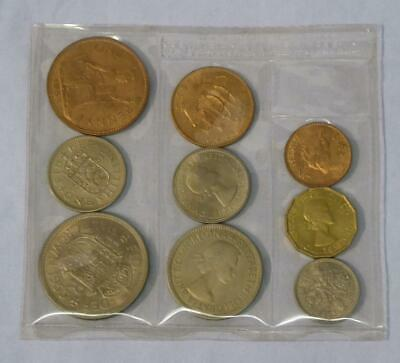 1953 Gb Pre-Decimal Coin Set In Sealed Plastic Wallet