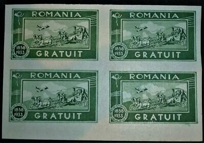 Romania 1933 miniature sheet (green) U/Mint SG-F1286