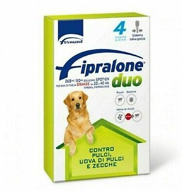 Fipralone DUO spot-on per cani da 20 a 40 Kg - 4 pipette