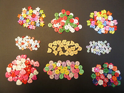 ASSORTED BUTTONS *Bows*Hearts*Flowers*Stars*Teds* CRAFT EMBELLISHMENTS *BARGAIN*