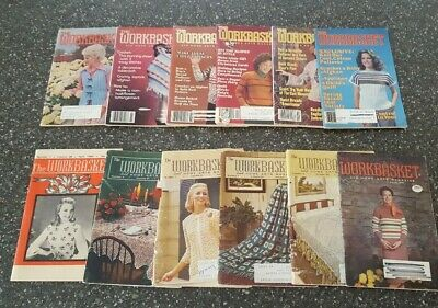 Lot of 12 Early 1960's thru Early 1980's Vintage The Workbasket Magazine