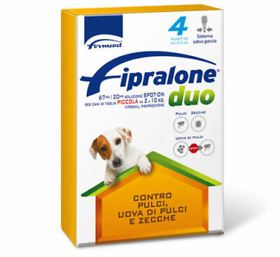 Fipralone DUO spot-on per cani da 2 a 10 Kg - 4 pipette