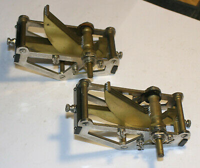 2 Vintage Karas Orthometric Condensers .. Chrome And Brass .. Beautiful!