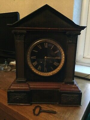 Antique slate and marble chiming clock for repair. COLLECTION ONLY
