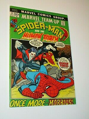 Marvel Team-Up #3 Spider-man & Human Torch 3rd Appearance of Morbius High Grade