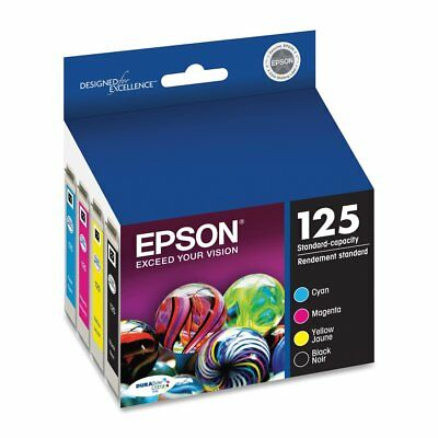 NEW Epson 125 T125  Ink Cartridge Set T125120 - T125420 GENUINE
