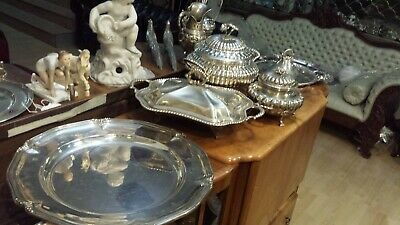 4510g STERLING SILVER PEARL STYLE SERVER SET DINNER SERVICE 6 ITEMS