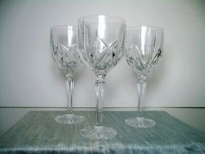 Three Marquis by Waterford Brookside Crystal Water Goblets