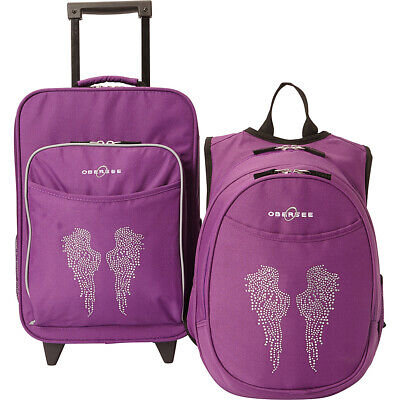 043d849facb9 Obersee Kids Angel Wings Luggage and Backpack Set With Softside Carry-On NEW