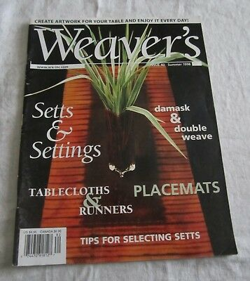 Weaver's Magazine 40 Setts & Settings Tablecloths & Runners Placemats