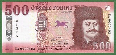 Rare Specimen , Minta 500 Forint 2018 Hungary ! New Issue ! Unc