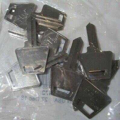 10-Pack Usa Made Ilco A1045 Junckunc American Lock Padlock Uncut Key Blanks