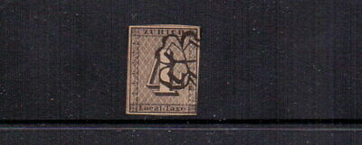 SWITZERLAND 1843 4r USED - EARLY FORGERY
