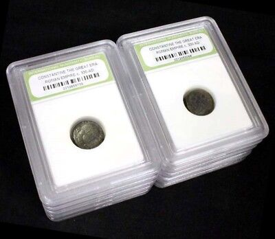 10 Slabbed Ancient Roman Constantine the Great Coins Nice Quality c 330 AD a2