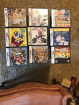 Nintendo DS Game Cases And Manuals Lot Of 9 No Games Cases & Manuals Only