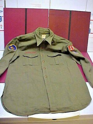 Vintage Boy Scout Shirt With Patches Wool Adult Size. Humboldt