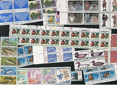 U.s. Discount Postage Lot Of 100 22¢ Stamps, Face $22.00 Selling For $15.75