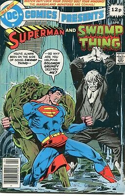 Dc Comics Presents # 8 - Superman And Swamp Thing - Solomon Grundy -Anderson Art