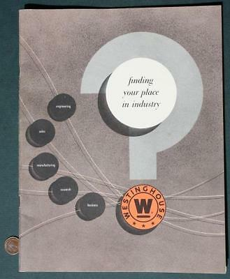 '56 Pittsburgh,Pennsylvania Westinghouse prospective employee pictorial booklet*