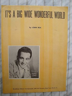 It's A Big Wonderful World - Perry Como - John Rox - 1940 - Orig. Musiknote