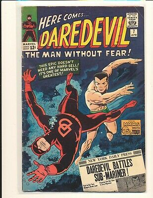 Daredevil # 7 - 1st Red Costume incomplete G/VG Cond. pin-up page missing
