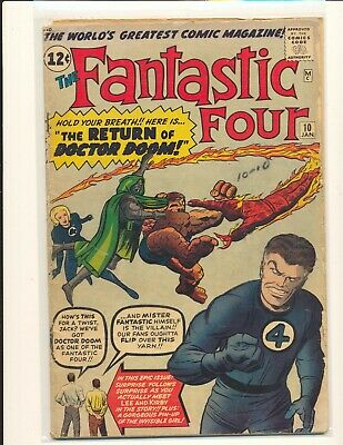 Fantastic Four # 10 incomplete Fair Cond. 3rd page missing