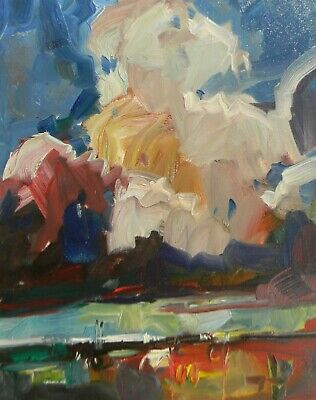 JOSE TRUJILLO Large OIL PAINTING Clouds Sky Storm Ranch IMPRESSIONISM NEW ART