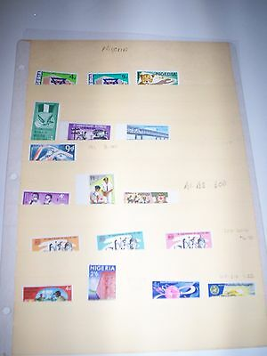 Gorgeous Lot of MNH Nigeria Stamps 191 B1-B3 204-206 207 208 209 210 PLUS Value