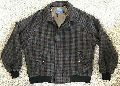 MEN'S LARGE Vintage PENDLETON BOMBER JACKET 100% WOOL LINED