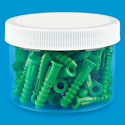 8oz Plastic Jar With White Lid - Case of 12 - Brand New