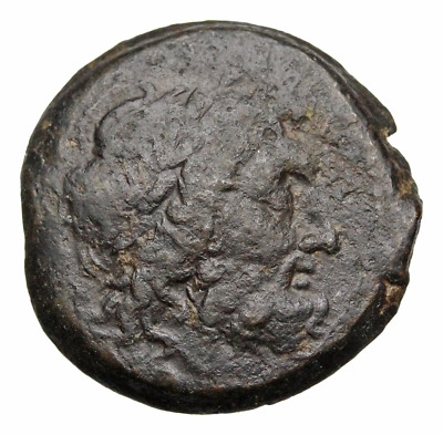 PTOLEMAIC KINGDOM. AE22, Eagle with open wings, thunderbolt to left
