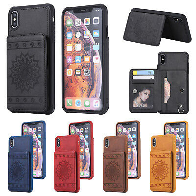 For iPhone 6S Plus 5S Case Leather Card Slot Wallet Stand Magnetic Bumper Cover