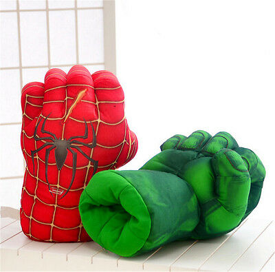 Spider Man Smash Hands Soft Toy Doll Boxing Gloves Big One Pair Funny Cosplay AY