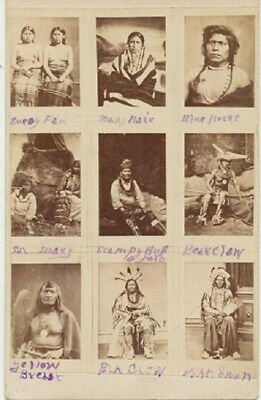Very RARE Antique NATIVE AMERICAN PHOTOS BUSINESS CARD. Unique. Late 1800s.