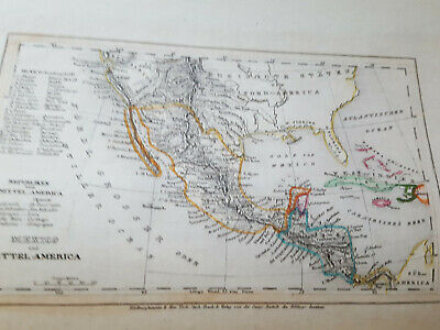 1858 BOOK Travel North AMERICA Texas, Calf. Gold. h/c map+5 full pg. eng. S/W nr