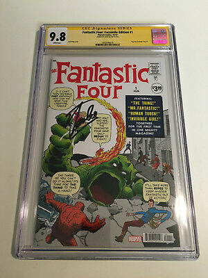 Fantastic Four #1 Facsimile Edition REPRINT!! CGC 9.8 SIGNED BY STAN LEE