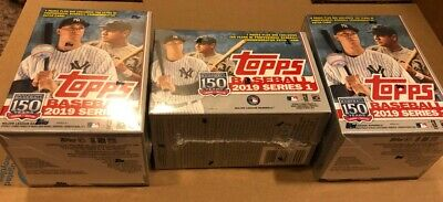 (3) 2019 Topps Series 1 Baseball Sealed Retail Relic BLASTER BOXES 3-Box Lot NEW