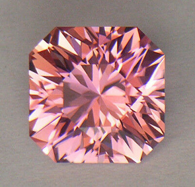 2.42Ct Flawless Precision Diamond Octagon Cut Pink With Peachy Hues Tourmaline