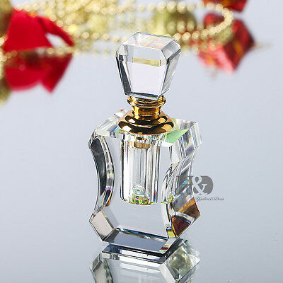 Mini 3ML Clear Vintage Style Perfume Empty Replacement Crystal Glass Bottle