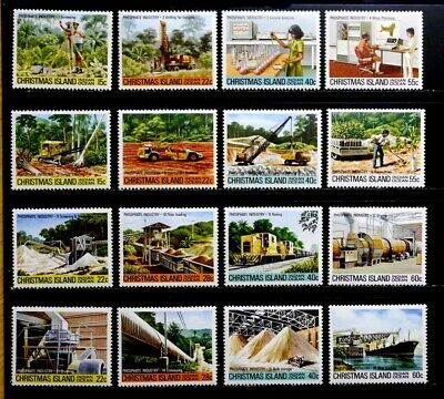Christmas Island: 1980-81 Mint Never Hinged Set Scott #95-110 All Sound