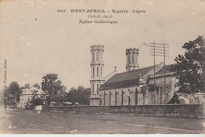 SOUTHERN NIGERIA 1914 Catholic church postcard to Germany-used