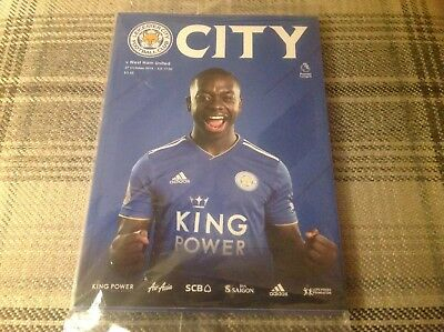 Leicester City V West Ham United 27th October 2018   Wrapped In Original Plastic