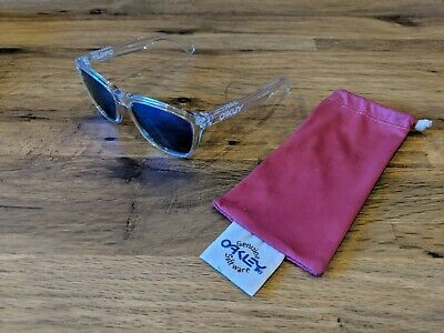 bfb3c5966c Oakley Frogskins Crystal Sunglasses 24-305 55O17 Polished Clear   Sapphire
