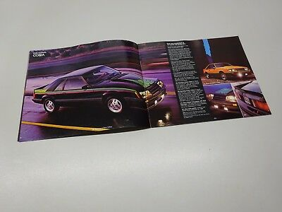LARGER 1980 FORD MUSTANG BROCHURE, IN ENGLISH. 7/79. GHIA / COBRA 3dr.