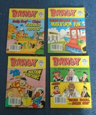 4 x  VINTAGE COMIC LIBRARY DANDY Issues 212  214  218  230