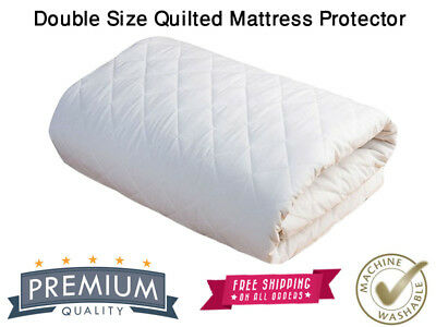 Double Bed Quilted Mattress Protector 30cm Extra Deep Skirt Bed cover Topper